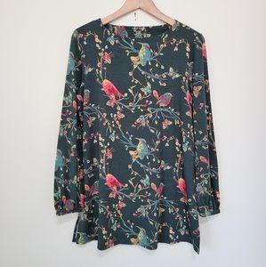 NWOT Westbound bird print shirt M